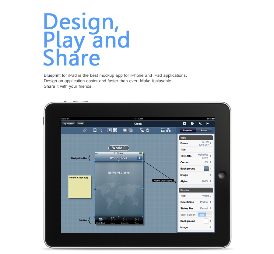blueprint - Prototype Ipad App